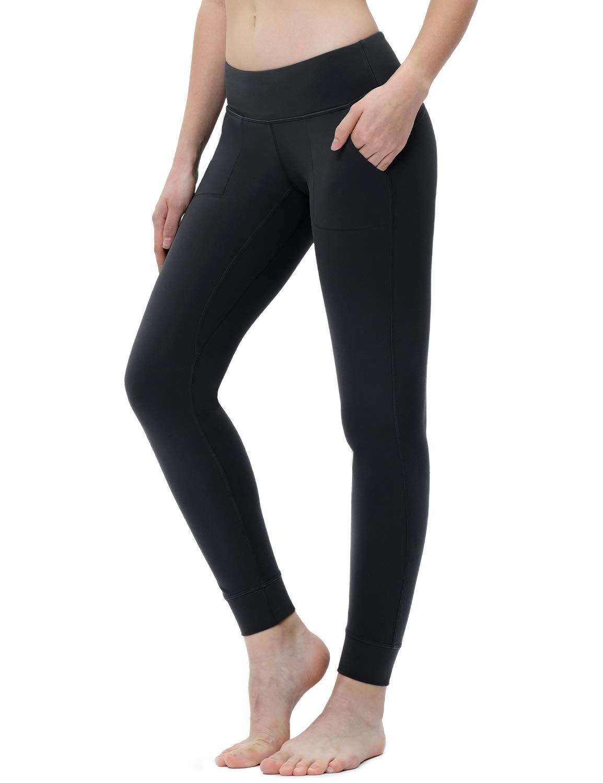 "XGEAR Women's Yoga Pants 28"" Yoga Leggings with Pockets Tummy Control Workout Running Pants"