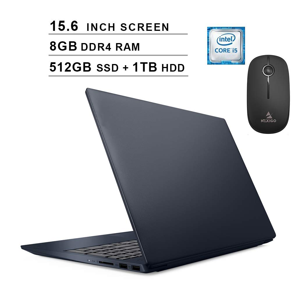 2020 Lenovo S340 15 6 Inch Laptop Intel 4 Core I5 8265u Up To 3 9ghz 8gb Ram 512gb Ssd Boot 1tb Hdd Wifi Bluetooth Hdmi Windows 10 Blue Nexigo Wireless Mouse Bundle