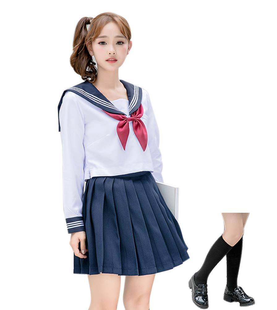 ROLECOS Japanese School Girl Uniform Anime Sailor Suit Lolita School Uniform