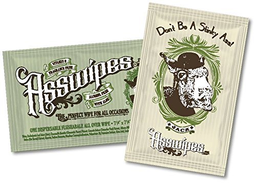 ASSWIPES To Go Single Packets! Everyday Flushable Bathroom Wipes with Aloe and Vitamin E! (15 packets)