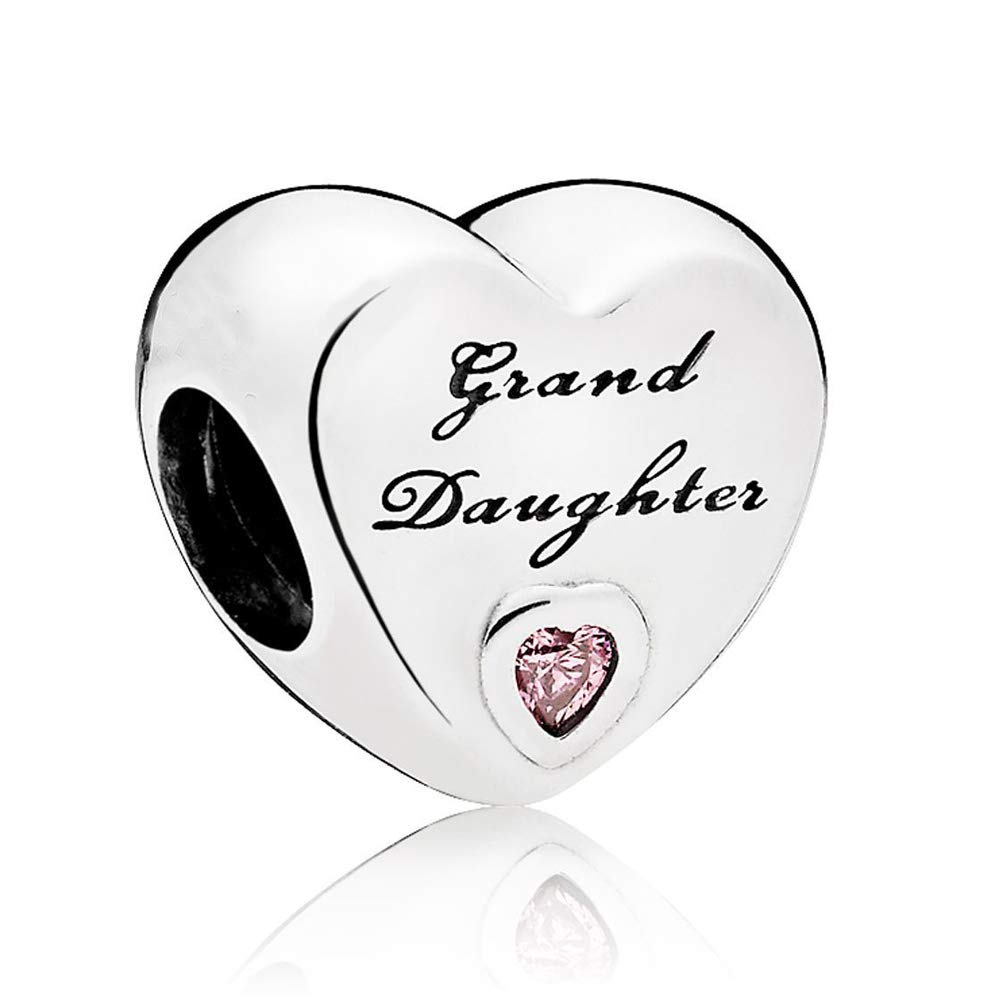 Charm for Bracelets Pandora Charms Golden Heart Alphabet Dangle Beads for Bracelets & Necklaces-Grand Daughter