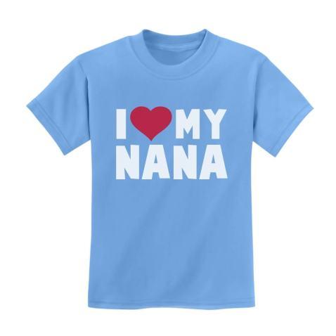 TeeStars - I Love Heart My Nana Children's Kids T-Shirt