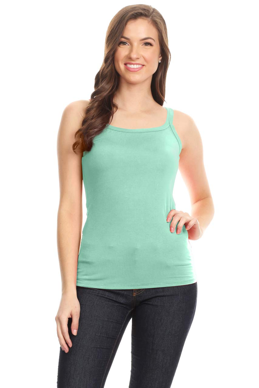 Cami Tank Tops for Women Reg and Plus Size Womens Camisoles Workout Top - Made in USA