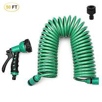 Micnaron EVA Recoil Garden Hose, Retractable Water Hose Garden Hose with 7 Pattern Nozzle Sprayer for All Watering Needs (50FT)