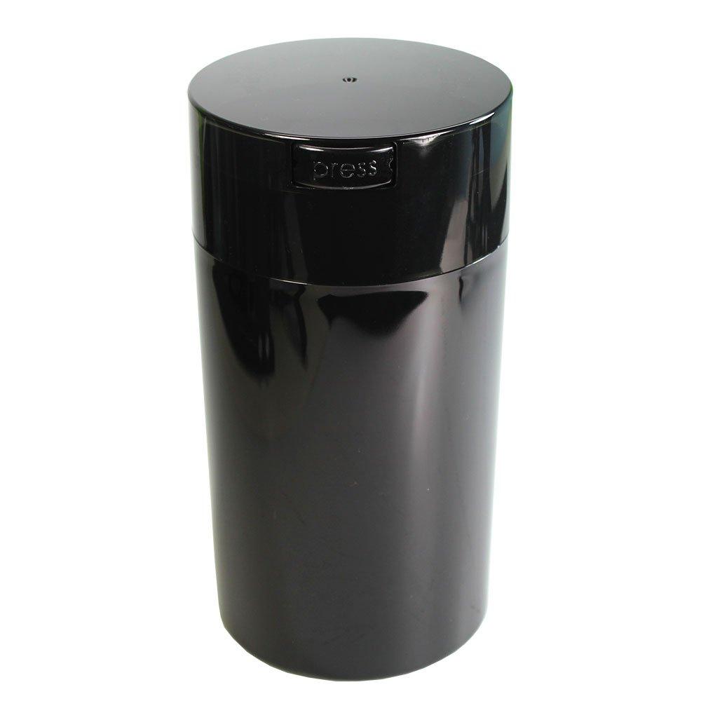 Tightpac America, Inc. Tightvac - 3 to 12 Oz Vacuum Sealed Storage Container, 1.3-Liter/1.1-Quart, Black Pearl