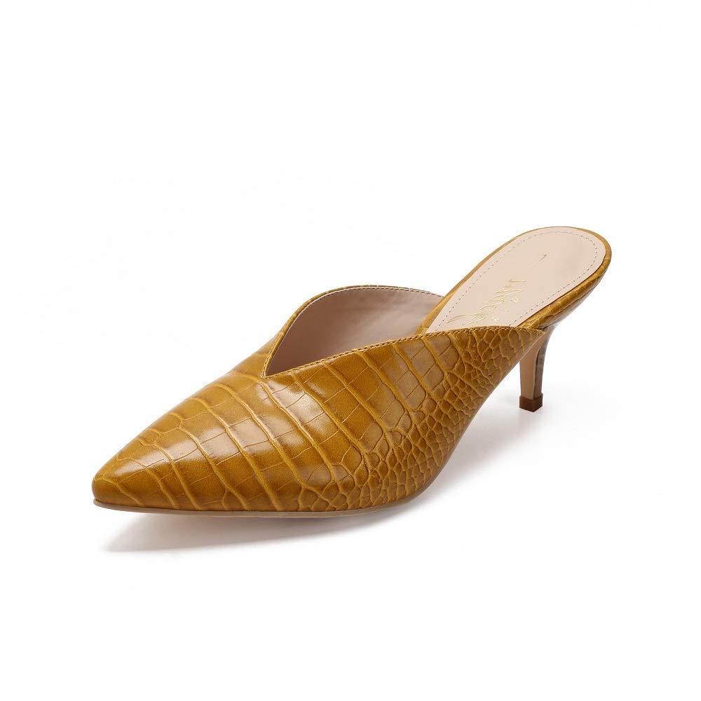 MACKIN J G224-1 Women's Kitten Low Heel Mules Pointed Toe Slip On Pumps Slides