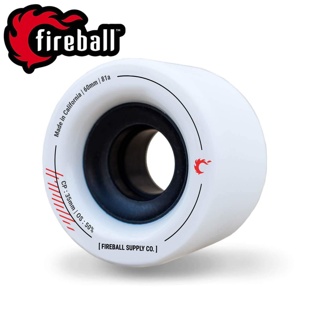Fireball Tinder 81a 60mm 70mm Skateboard & Longboard Wheels   Set of 4 for Smooth Cruising, Sliding, Dance & Freeride