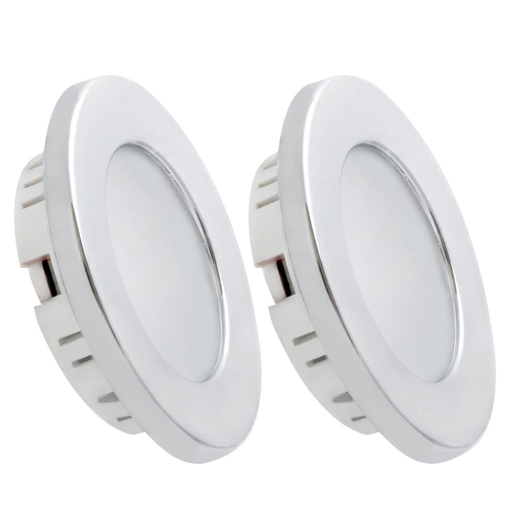 Dream Lighting 2W LED Ceiling Light - Silver Shell Recessed Downlight Pack of 2