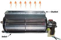 "Tjernlund 950-3306 Quiet Fireplace Blower Replacement Fan Gas Insert, 10"", 75 CFM"