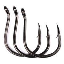 PROBEROS Fishing Hooks - Strong High Carbon Jig Saltwater Hooks - Single Fishing Hook - 100pcs Set Size 1#-6/0#