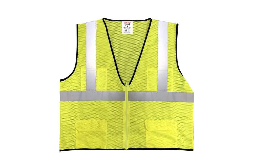 Safety Main Economy High Visibility All Mesh Vest, Medium