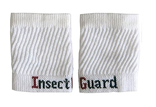 """InsectGuard - Permethrin Treated Tick & Mosquitoes Insect Repellent 4"""" Long Pair of Sleeves/Gaiters (White) One Size Fits All Up to Adult Large"""