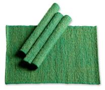 NOVICA Green Natural Fiber Cotton Placemats, Emerald Nature' (Set of 4)