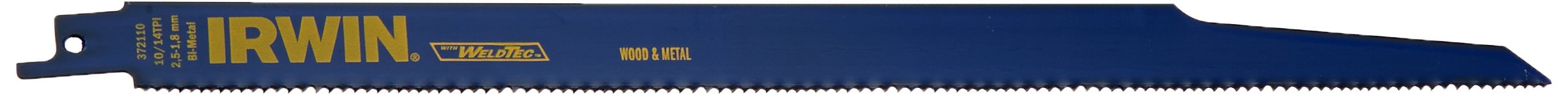 IRWIN Tools Metal and Wood Cutting Reciprocating Saw Blade, 12-Inch, 10/14 TPI (372110)