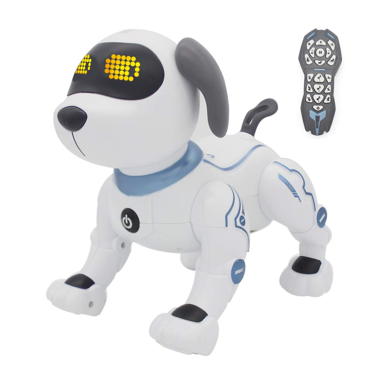 fisca Remote Control Dog, RC Robotic Stunt Puppy Toys Handstand Push-up Electronic Pets Dancing Programmable Robot with Sound for Kids Boys and Girls Age 6, 7, 8, 9, 10 Year Old