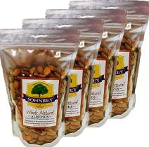 Whole Natural Raw Almonds 16oz) Steam Pasteurized from the Sohnrey Family Farm (4-Pack)