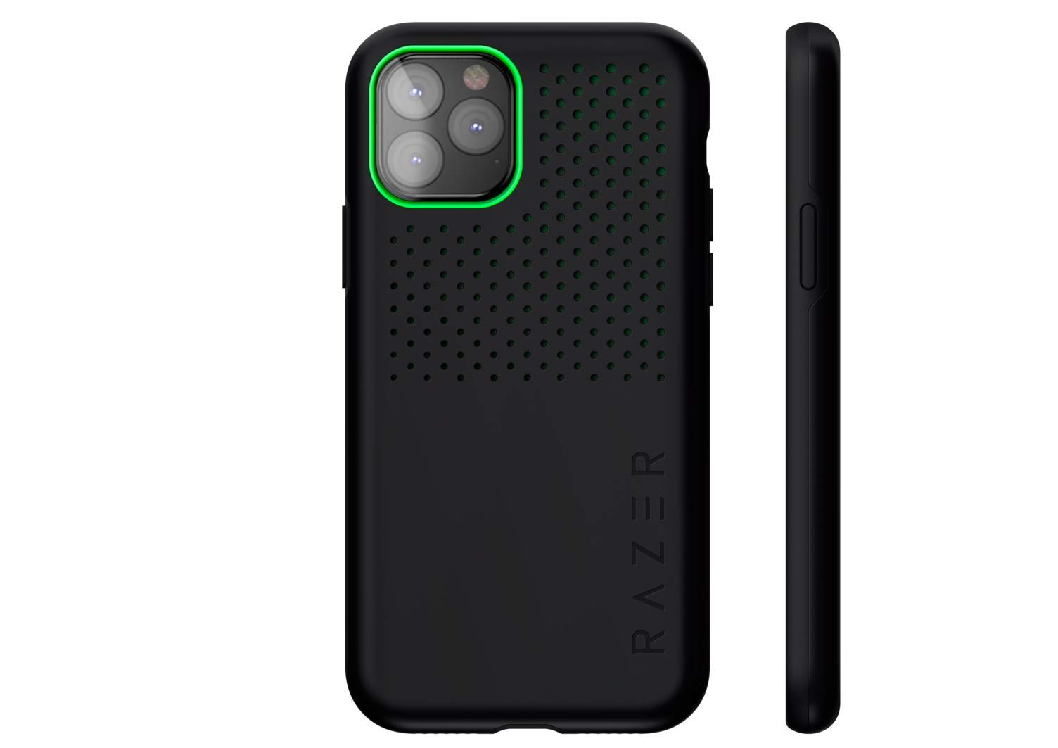 Razer Arctech Pro for iPhone 11 Pro Case: Thermaphene & Venting Performance Cooling - Wireless Charging Compatible - Drop-Test Certified up to 10 ft - Matte Black
