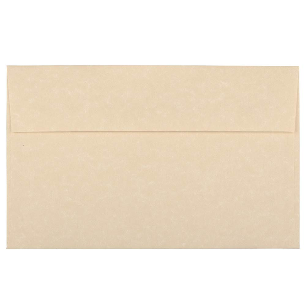 JAM PAPER A10 Parchment Invitation Envelopes - 6 x 9 1/2 - Brown Recycled - 25/Pack