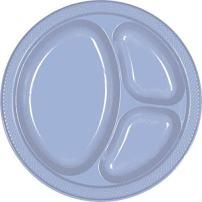 "Amscan 43033.108 Plastic Plates, 10 1/4"", Pastel Blue"