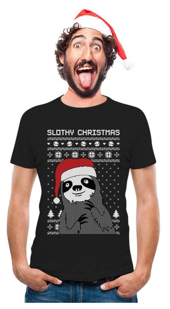 Slothy Christmas Ugly Christmas Sweater Sloth T-Shirt