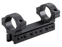 BKL 1-Pc Mount, 4 Long, 1 Rings, 3/8 or 11mm Dovetail, 6 Base Screws.007 Drop Compensation, Matte Black