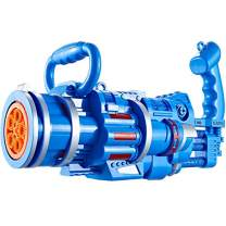 MARIDA Gatling Bubble Machine for Kids,Bubble Blower Bubble Guns Automatic Bubble Machine for Toddlers, Electric Bubble Gun Toy, Newly Outdoor Toys for Boys and Girls (Blue Large)