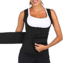 Wonder-Beauty Women's Neoprene Waist Trainer Vest Slimming Body Shaper Sport Girdle Sauna Sweat Belly for Weight Loss
