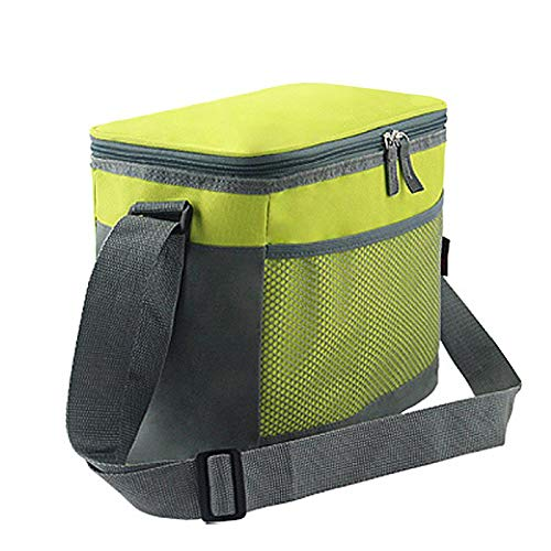 Insulated Cooler Lunch Bag for Office Work Camping Sports Beach Travel, Breastmilk Cooler and Baby Bottle Bag Outdoor Picnic Tote Bag with Shoulder Strap (Green)