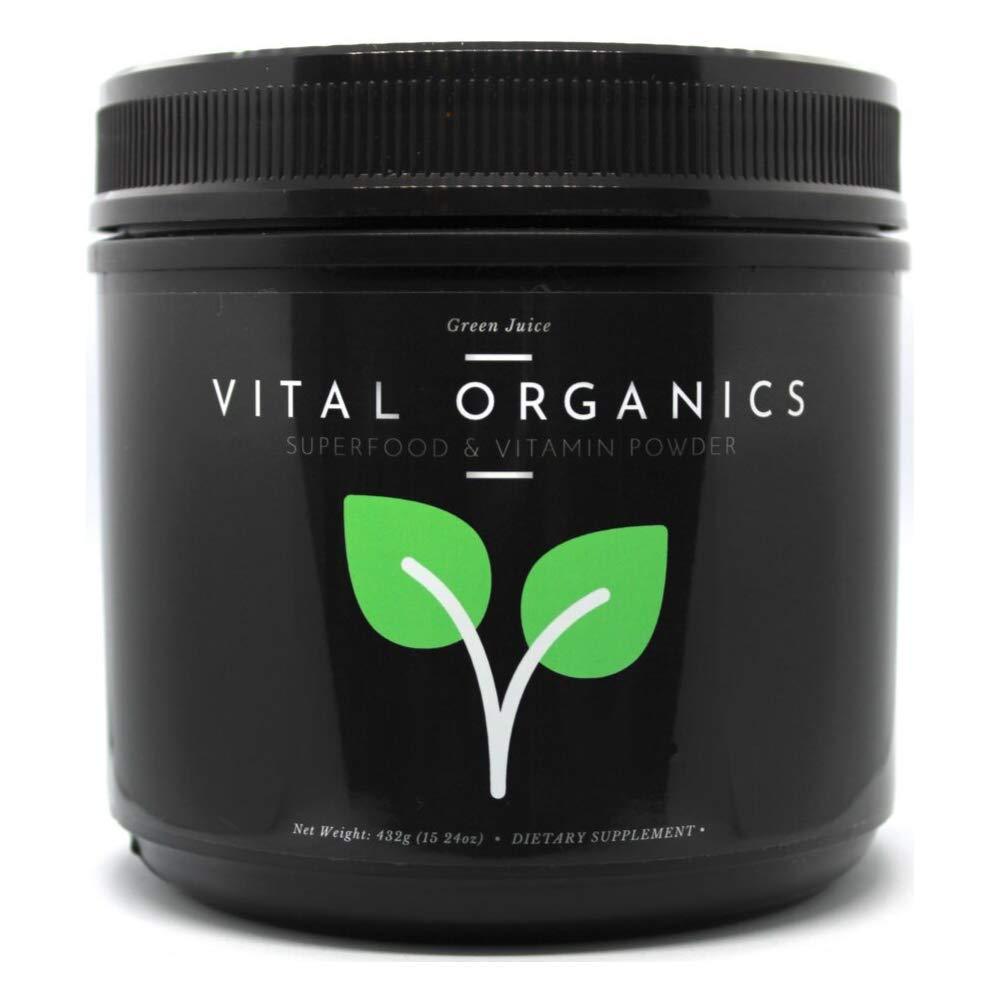 Vital Organics | Green Juice Superfood & Vitamin Powder | All in 1 Scoop 100% Daily Value of 22 Essential Vitamins & 14 Powerful Superfoods | Best Supplement for Energy, Detox, Immunity | 30 Servings