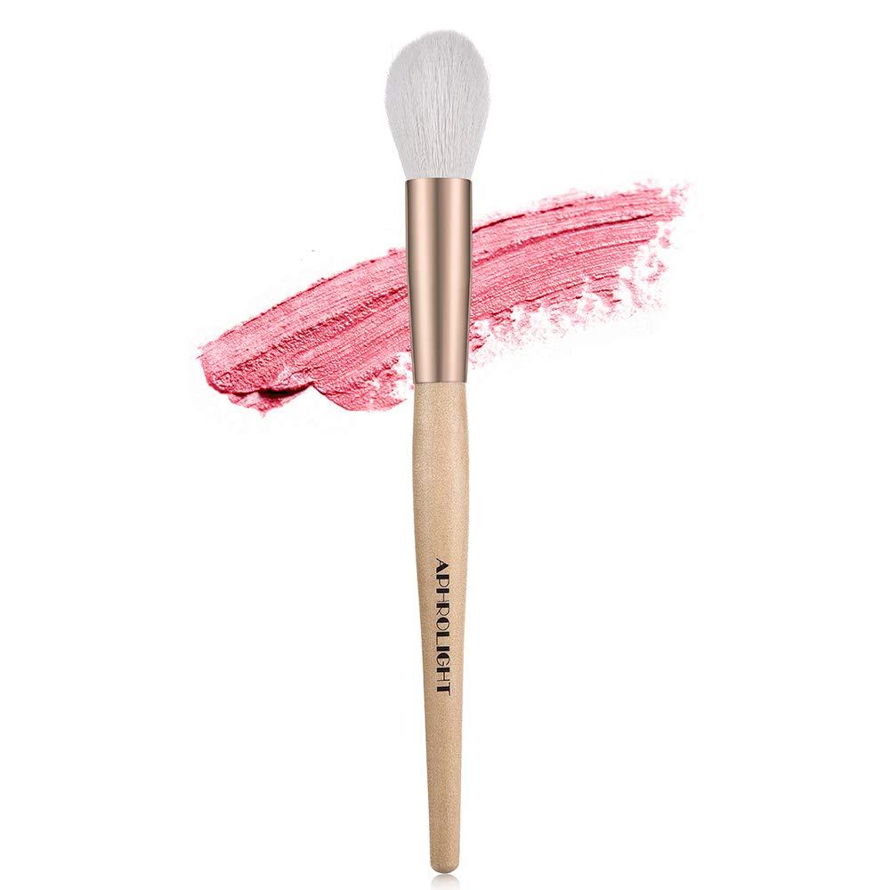 Aphrolight Vegan Blush Brush for Foundation Contour Powder Blending Buffing Makeup Kabuki Brush 1 Piece