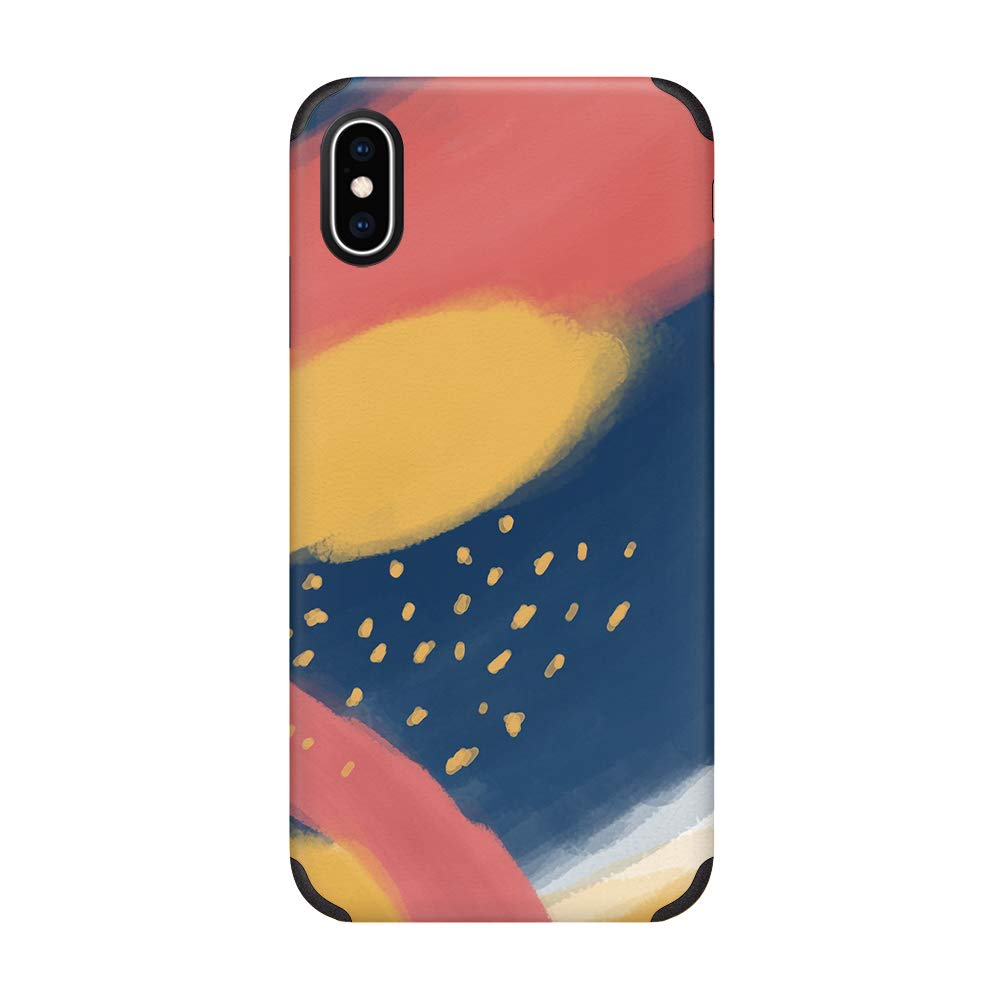 CUSTYPE iPhone X Case, iPhone Xs Case, Oil Painting Stary Sky Printed Pattern Case Soft Slim TPU Anti-Slip Shockproof Cover Case for iPhone X/iPhone Xs 5.8 inch Sky