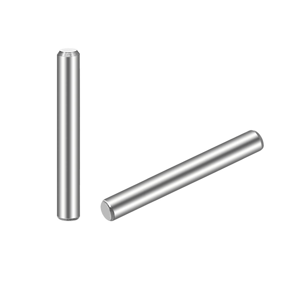 """uxcell 3 x 25mm(Approx 1/8"""") Dowel Pin 304 Stainless Steel Wood Bunk Bed Dowel Pins Shelf Pegs Support Shelves 25Pcs"""