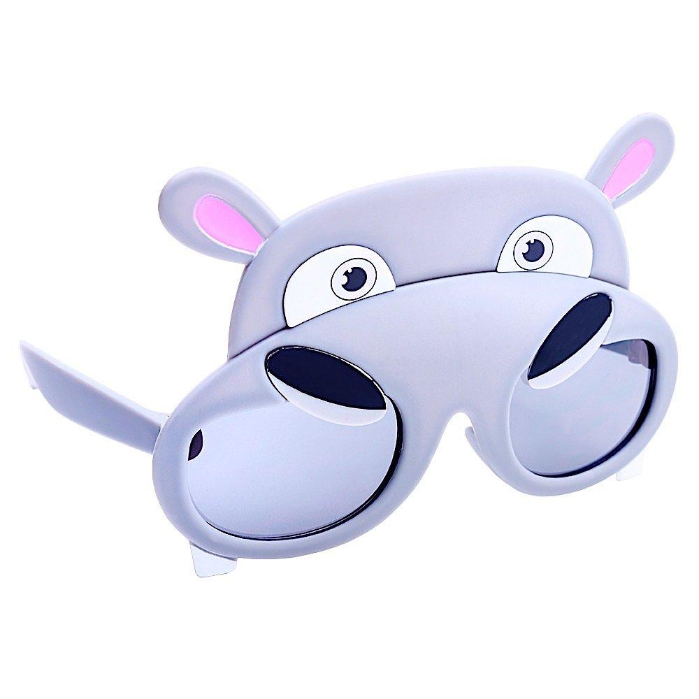 Sun-Staches Costume Sunglasses Animal Hippo Party Favors UV400
