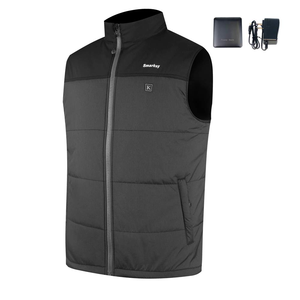 Smarkey Heated Jacket Vest for Men with 1pcs 7.4v 5200mAh Battery and Charger