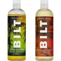 "BILT Natural Body Wash for Men, 16 fl oz:""Energizing"" Variety Set of 2 - Havana Bay & South Beach"