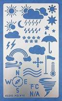 Aleks Melnyk #14 Metal Journal Stencil/Weather Forecast/Stainless Steel Stencil 1 PCS/Template Tool for Wood Burning, Pyrography and Engraving/Scrapbooking/Crafting/DIY
