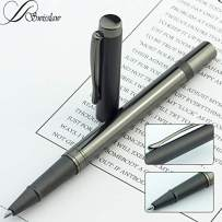 Swisslaw Luxury Fancy Rollerball Pen   Executive Branded Modern Writing Pens with Black Gel Ink and Luxury Gift Box Set   Modern Business Pen Set   Black Metallic Color