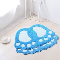 HUAHOO Big Feet Bath Toilet Mat Area Rugs Carpet Doormat Floor Mat Absorbent Mats Bathroom Rugs Bedroom Living Room Kitchen Foot Pad Rug (16''x24'' + 19''x26'', Blue)