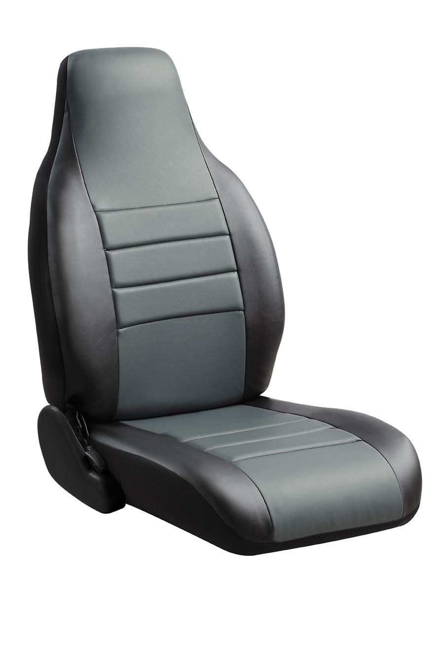 Fia SL68-31 GRAY Custom Fit Front Seat Cover Split Seat 40/20/40 - Leatherette (Black w/Gray Center Panel)