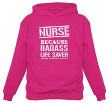 Tstars Nurse Badss Lifesaver Funny Gift for Nurse Women Hoodie