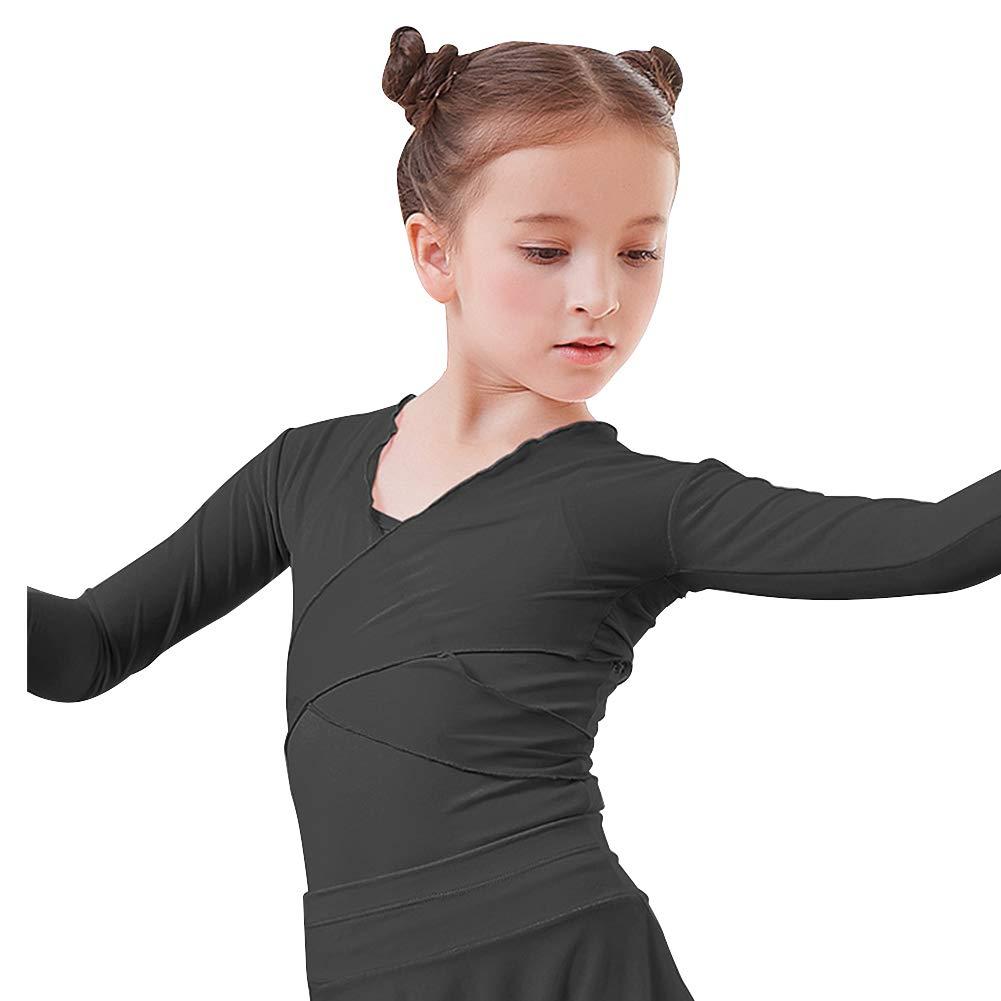 Lisianthus Girls' Classic Ballet Long Sleeve Wrap Top