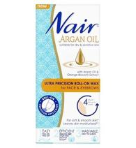 Nair Arzc Argan Oil Ultra Precision Roll-on Wax for Face & Eyebrows 15ml, 1 Pound