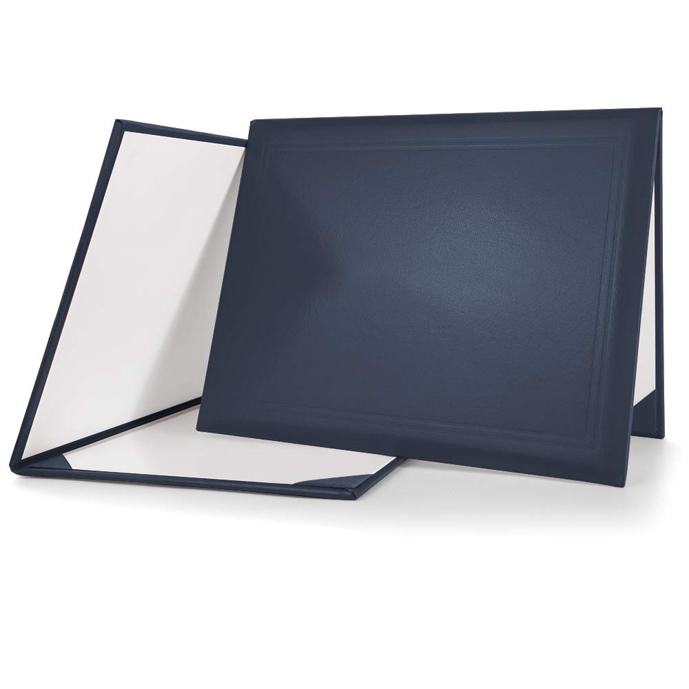 """GraduationMall Smooth Diploma Certificate Cover 8 1/2"""" x 11"""" Navy Blue"""