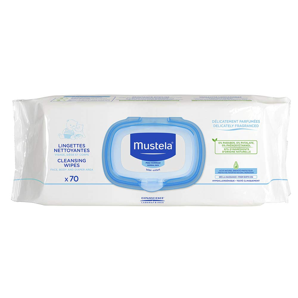 Mustela Cleansing Wipes Delicately Fragranced, 420 Count
