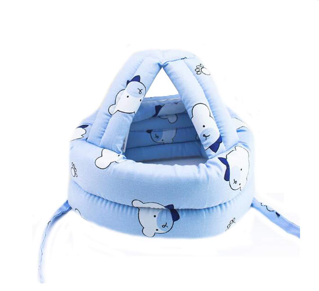 Ewanda store Toddler Infant Baby No Bumps Head Helmet Safety Helmet Children Headguard Head Cushion Bumper Bonnet,S,Blue Bear