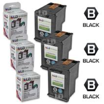 LD Remanufactured Ink Cartridge Replacements for HP 60XL CC641WN High Yield (Black, 3-Pack)