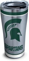 Tervis 1297301 Ncaa Michigan State Spartans Tradition Stainless Steel Tumbler With Lid, 20 oz, Silver