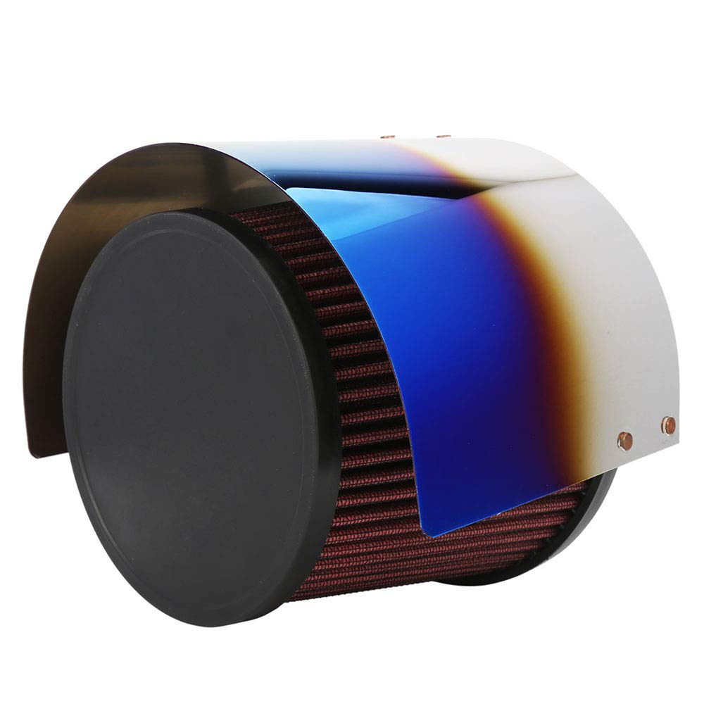 """Kyostar Universal Stainless Steel Cone Air Filter Heat Shield Cover Burning Titanium Blue Air Intake Filter Cover for 2.5-3.5"""" Cone Filter"""