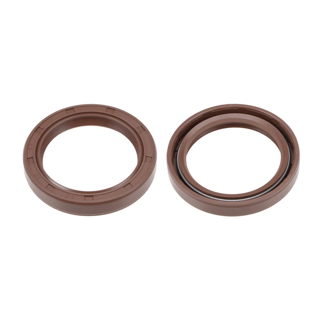 uxcell Oil Seal 35mm Inner Dia 47mm OD 7mm Thick Fluorine Rubber Double Lip Seals 2Pcs