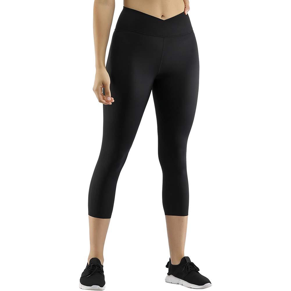 Wonder-Beauty High Waist Yoga Pants for Women Tummy Control Capri Leggings Breathable Workout Pants Butt Lift Sexy